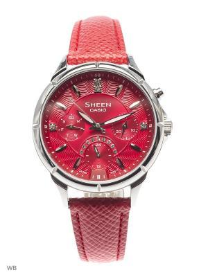 Часы Sheen SHE-3047L-4A CASIO. Цвет: красный