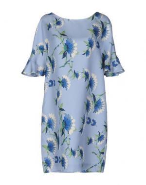Короткое платье SHIRTAPORTER. Цвет: небесно-голубой