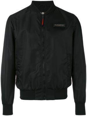 Куртка-бомбер на молнии Plein Sport. Цвет: чёрный