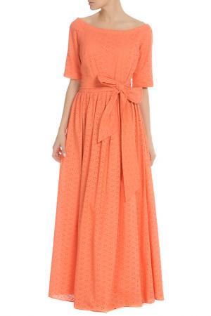 Платье с открытыми плечами NATALIA PICARIELLO. Цвет: оранжевый
