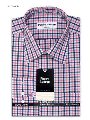 Рубашка Pierre Lauren. Цвет: розовый, синий