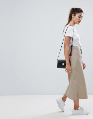 Calvin Klein Юбка-трапеция миди Jeans. Цвет: рыжий