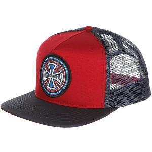 Бейсболка с сеткой  Weathered Cross Trucker Mesh Cardinal/Navy Independent. Цвет: темно-синий,бордовый