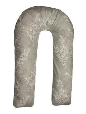 Подушка для беременных Здоровье и комфорт. Цвет: серый, светло-серый