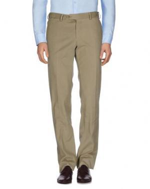 Повседневные брюки LUIGI BIANCHI Mantova. Цвет: хаки