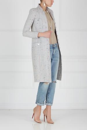 Пальто (90-е) Chanel Vintage. Цвет: серый