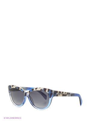 Солнцезащитные очки JC 679S 92W Just Cavalli. Цвет: голубой