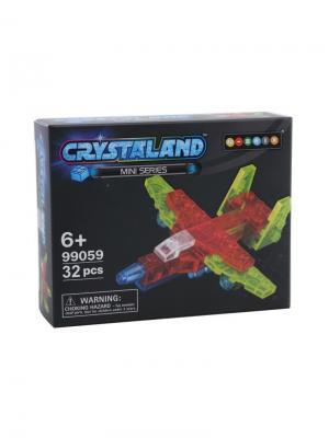 Светящийся конструктор Crystaland Мини Самолет 32 детали Neocube. Цвет: фиолетовый