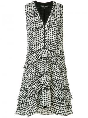 Платье с принтом Plaid Proenza Schouler. Цвет: белый