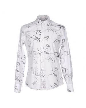 Pубашка BIKKEMBERGS. Цвет: белый