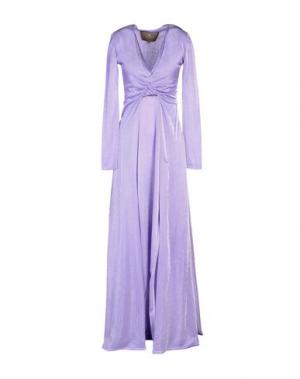 Длинное платье SPACE STYLE CONCEPT. Цвет: сиреневый