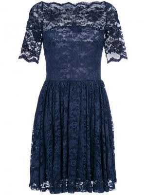 Lace embroidered shift dress Ganni. Цвет: синий