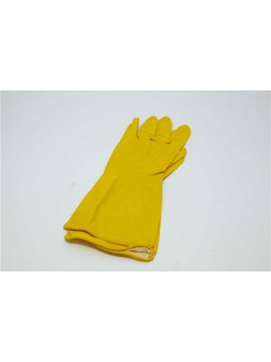 Перчатки резиновые ПРЕМИУМ, M Vetta. Цвет: желтый