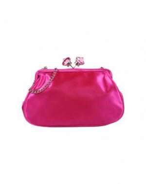Средняя сумка из текстиля PAPÀ RAZZI. Цвет: фуксия