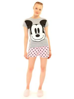 Пижама ТВОЕ. Цвет: светло-серый, бледно-розовый