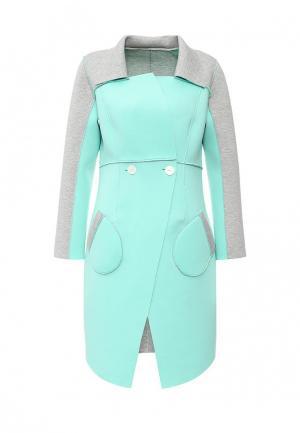 Пальто Grand Style. Цвет: мятный