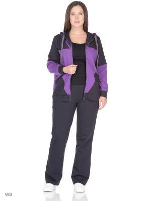 Спортивный костюм FORLIFE. Цвет: темно-серый, фиолетовый