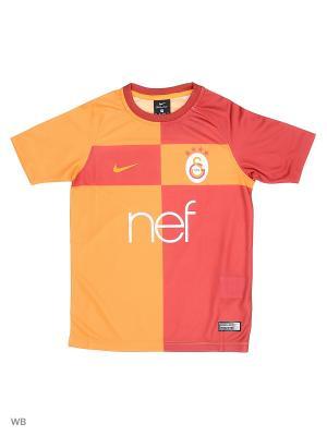 Футболка GS Y NK BRT FTBL TOP SS HM Nike. Цвет: оранжевый