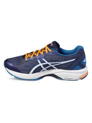 Кроссовки GT-1000 5 ASICS. Цвет: белый, оранжевый, синий