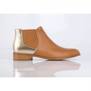 Кожаные ботинки  Balola MELLOW YELLOW. Цвет: темно-бежевый,черный