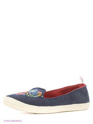 Балетки CentrShoes. Цвет: синий
