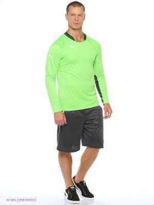 Лонгслив GK Shirt Puma. Цвет: зеленый