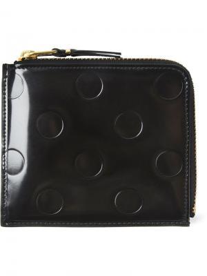 Бумажник с тиснением в горошек Comme Des Garçons Wallet. Цвет: чёрный