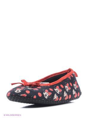 Тапочки Minnie Mouse. Цвет: черный