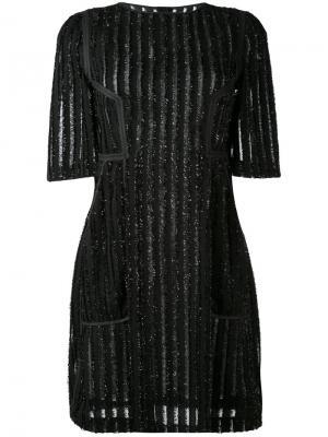 Платье Moab Talbot Runhof. Цвет: чёрный