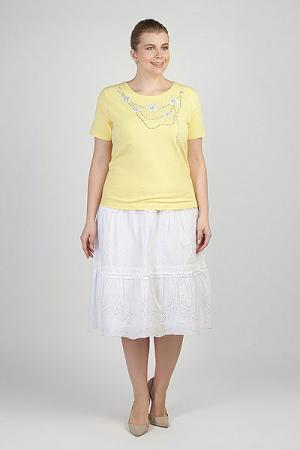 Юбка женская  Ls-18411 WHITE Steinberg. Цвет: белый