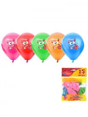Набор воздушных шаров А М Дизайн. Цвет: светло-зеленый, красный, лазурный, оранжевый, фуксия