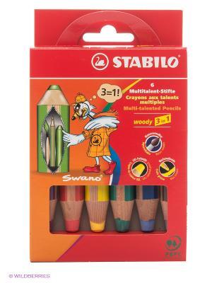Набор цветных карандашей Stabilo. Цвет: красный