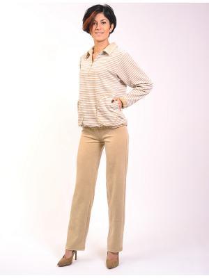 Велюровый костюм Тефия. Цвет: бежевый, молочный