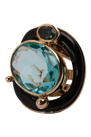 Кольцо Голубой топаз Patricia Bruni. Цвет: голубой , черный