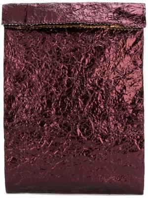 Клатч с отделкой металлик Zilla. Цвет: красный