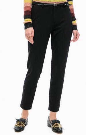 Базовые брюки из вискозы на ремне Scotch&Soda. Цвет: черный