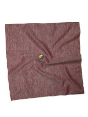Платок 100% х/б 50*50 Passigatti. Цвет: серо-коричневый
