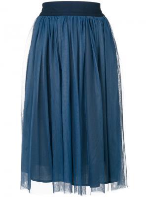 Плиссированная юбка Roberto Collina. Цвет: синий