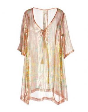 Короткое платье EMAMÒ. Цвет: розовый