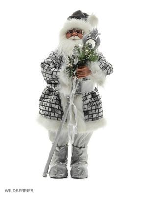 Дед Мороз с Посохом  (MT-C041405-80) MAXITOYS. Цвет: белый, зеленый, серебристый