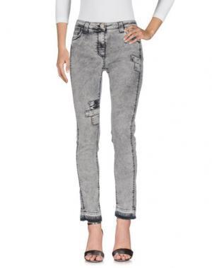 Джинсовые брюки DANIELA DALLA VALLE ELISA CAVALETTI. Цвет: светло-серый