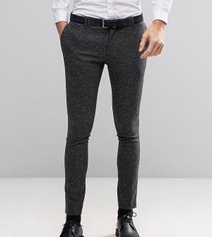 Noak Супероблегающие шерстяные брюки в крапинку. Цвет: серый