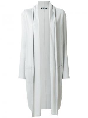 Удлиненный открытый кардиган Iris Von Arnim. Цвет: серый