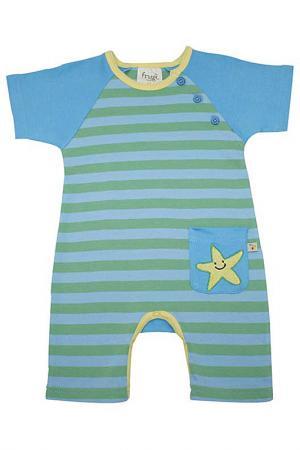 Песочник с морской звездой Frugi. Цвет: зеленый