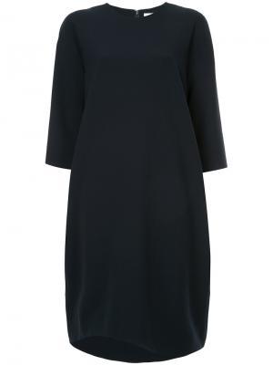 Платье-шифт средней длины Enföld. Цвет: синий