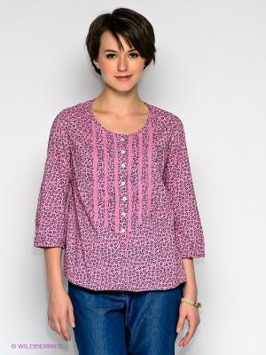 Блузка Finn Flare. Цвет: розовый
