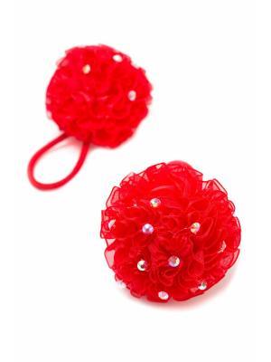 Резинка-сфера со стразами красная 2 шт. детская JD.ZARZIS. Цвет: красный