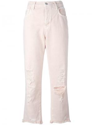 Укороченные джинсы Ivy J Brand. Цвет: розовый и фиолетовый