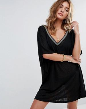 Pitusa Платье мини Desert. Цвет: черный