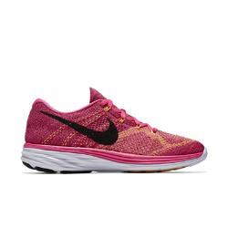 Женские беговые кроссовки  Flyknit Lunar 3 Nike. Цвет: розовый